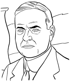 US President Ronald Reagan Coloring Page & Coloring Book