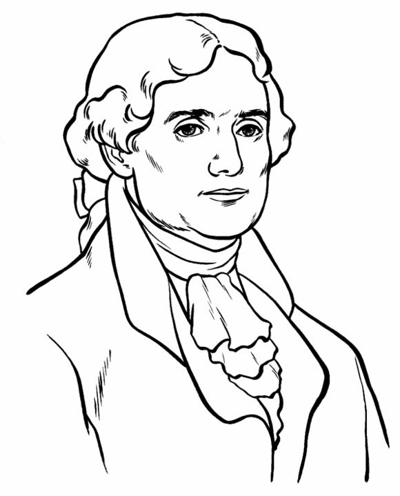 Printable Us President Thomas Jefferson