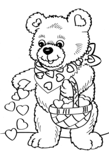 Valentines Page 2 Valentines Day Frog Coloring Page