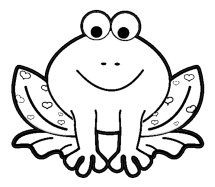 Valentines Day Frog Coloring Page coloring page amp book