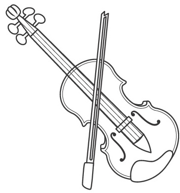 Viola coloring page & book for kids.