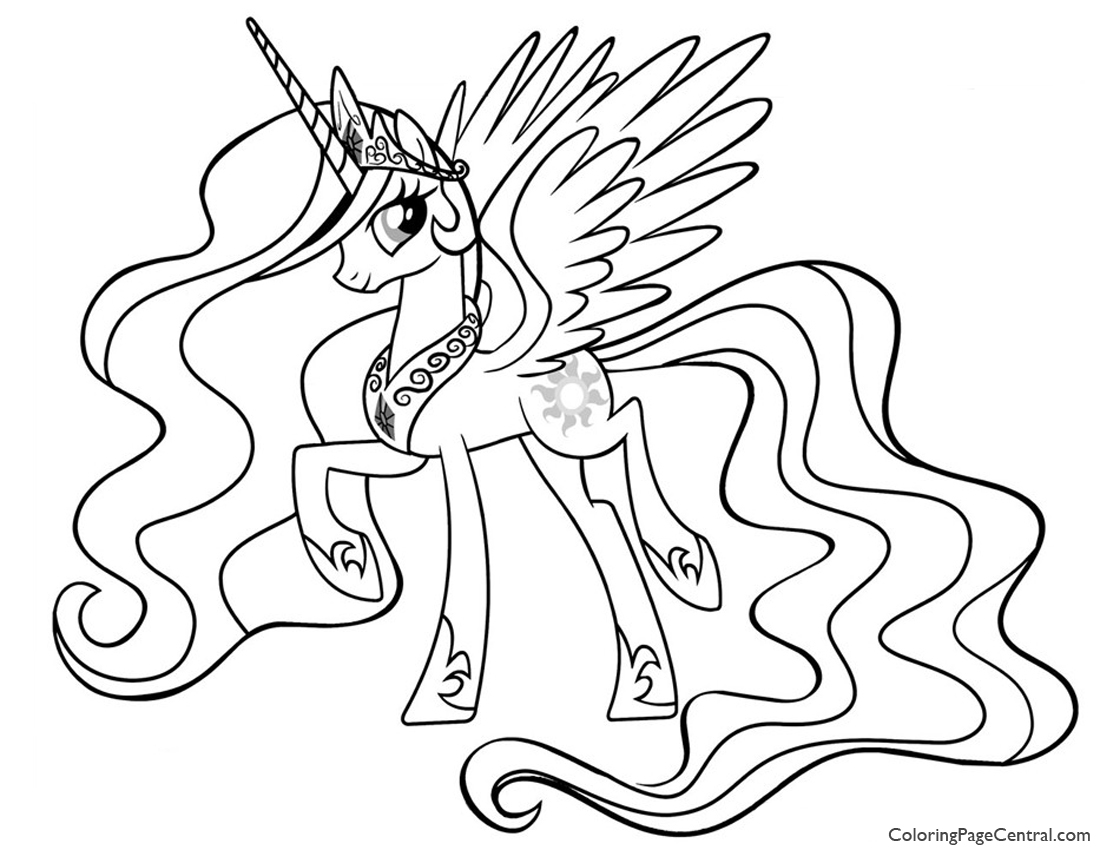 My Little Pony Princess Celestia 01 Coloring Page Coloring
