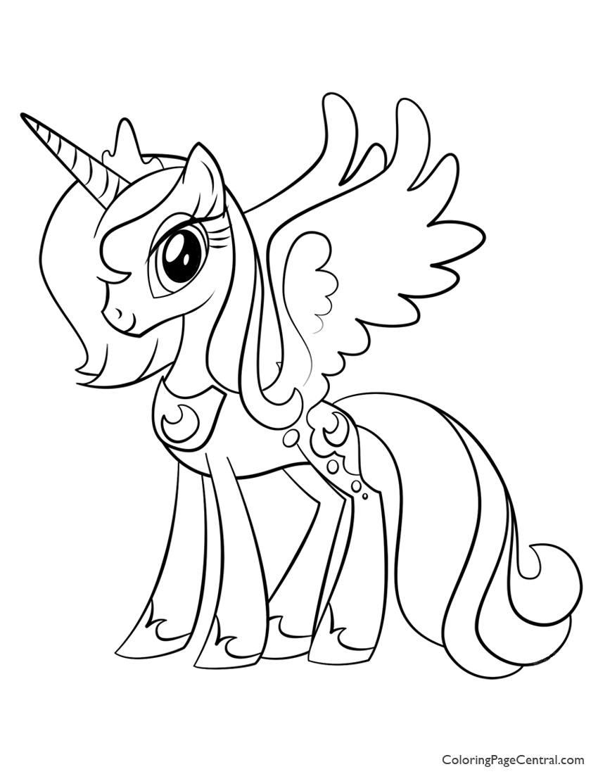 My Little Pony Princess Luna 02 Coloring Page Coloring Page