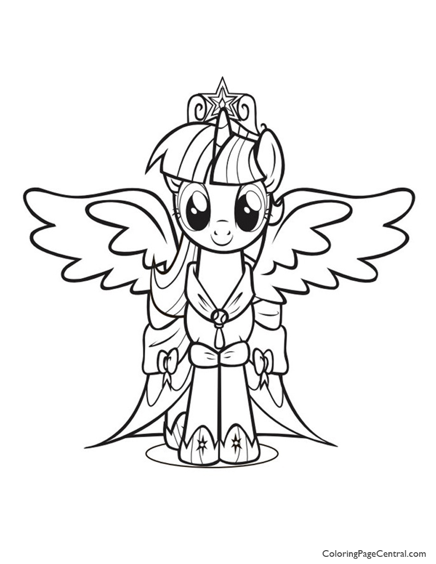 My Little Pony Princess Twilight Sparkle 01 Coloring Page