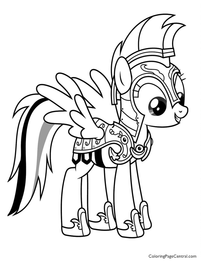 My Little Pony Rainbow Dash 02 Coloring Page Coloring Page Central
