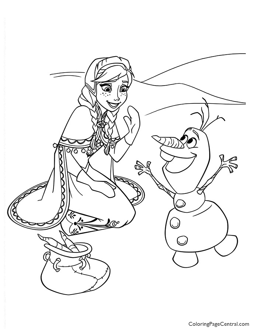 Frozen 13 Coloring Page Coloring Page Central