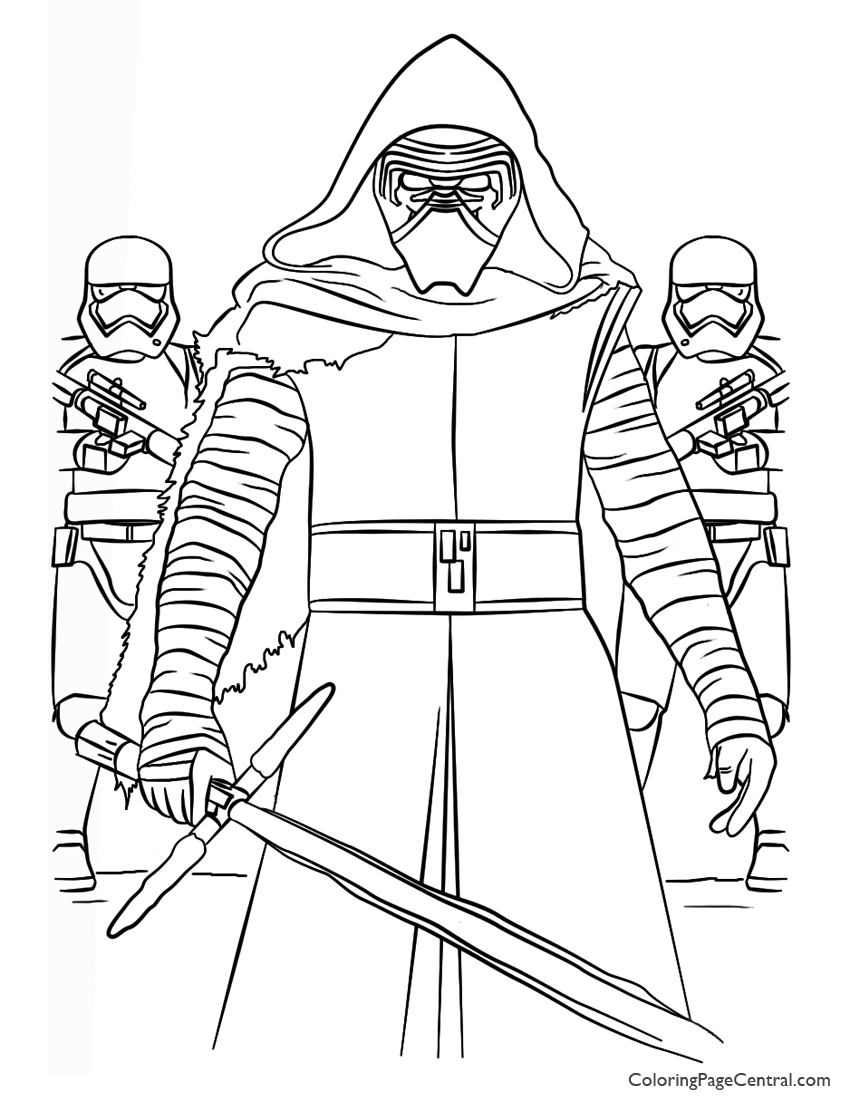 Star Wars Kylo Ren And First Order Coloring Page Coloring Page