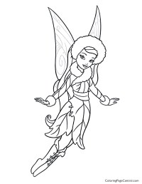 Tinkerbell  Silvermist 01 Coloring Page | Coloring Page ...