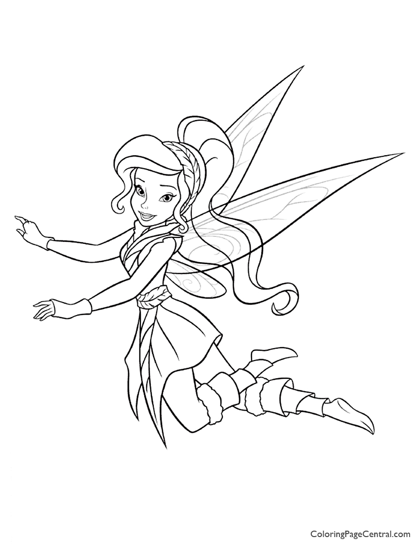 Tinkerbell Vidia 01 Coloring Page Coloring Page Central