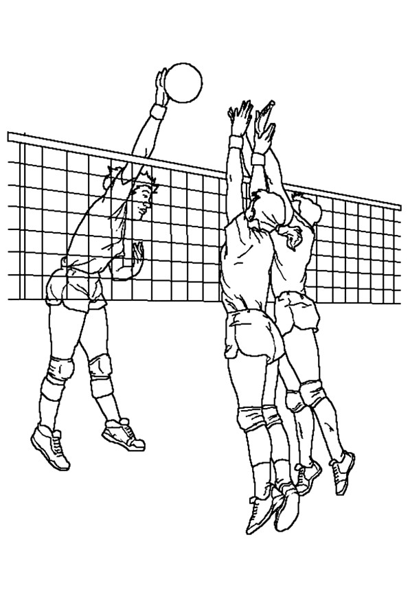 Volleyball Coloring Pages Books 100 Free And Printable