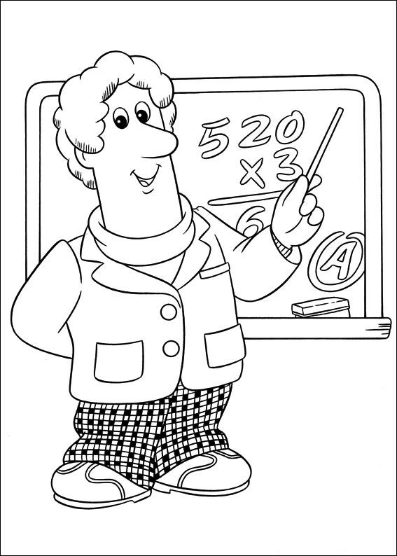 Postman Pat Coloring Pages 8