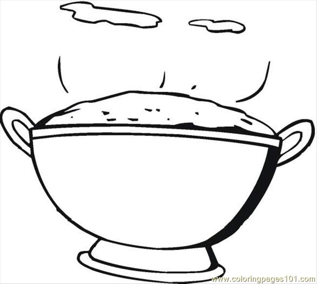 Rice 6 Coloring Page - Free Breakfast Coloring Pages