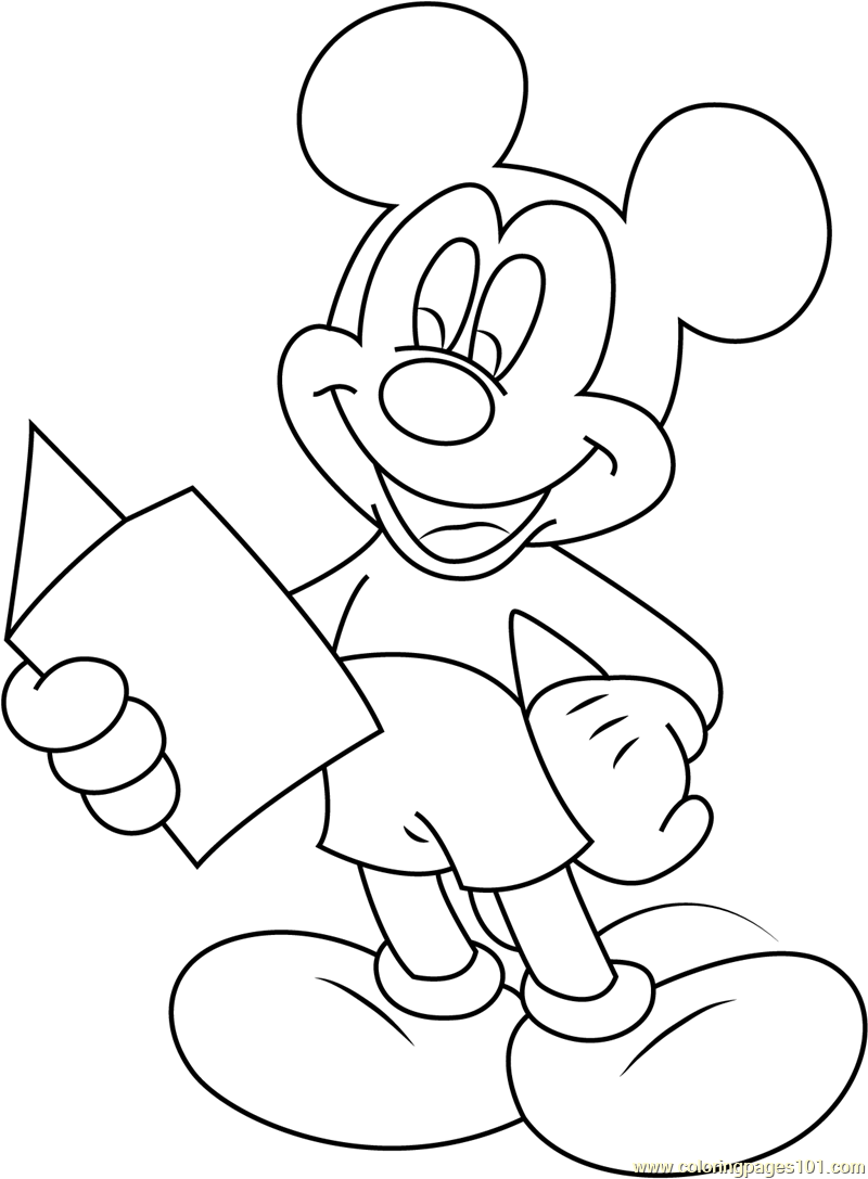 Mickey Mouse Graduation Coloring Pages Coloring Pages