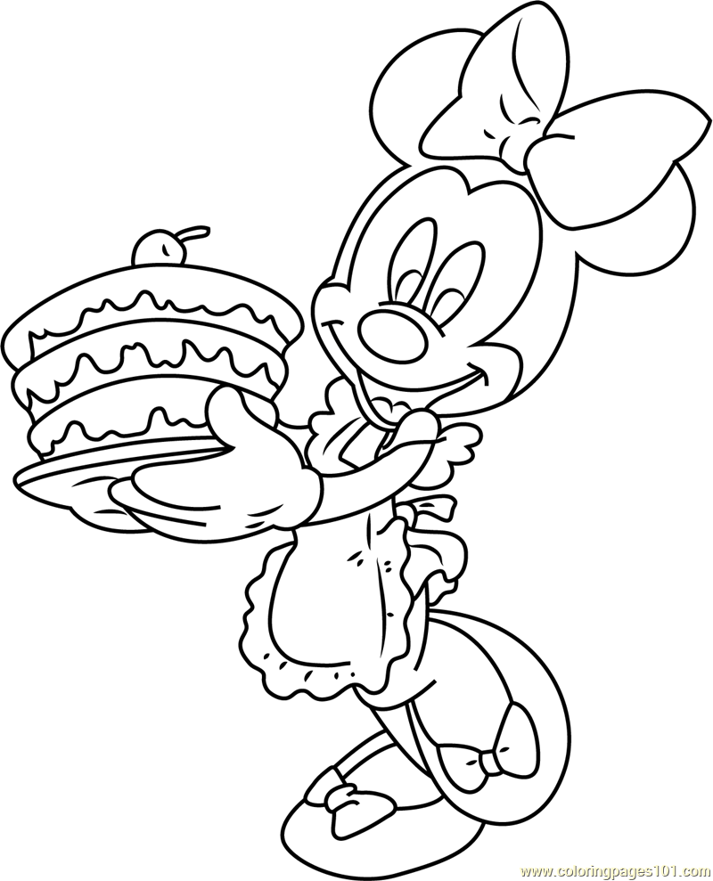 Minnie Mouse Birthday Pages Coloring Pages