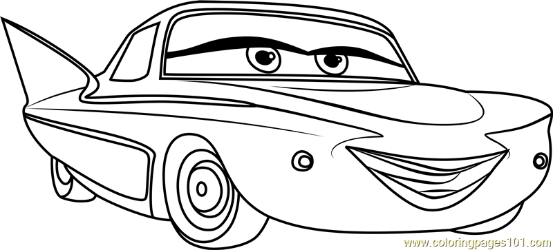 Flo from Cars 3 Coloring Page - Free Cars 3 Coloring Pages
