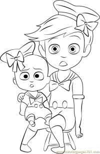 Diaper Coloring Page Baby Lion Pages Color Sheet Duck