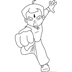 Chota Bheem Coloring Pages