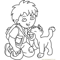 Go, Diego, Go! Coloring Pages