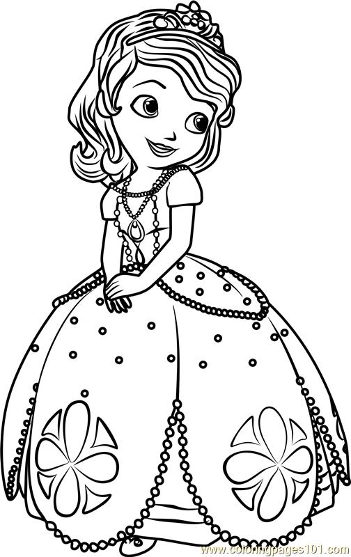 Princess Sofia Coloring Page - Free Sofia the First ... | princess sofia coloring pages