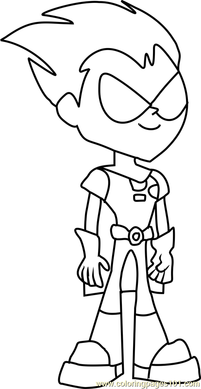 robin coloring page  free teen titans go! coloring pages
