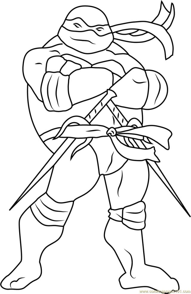 Raphael Coloring Page for Kids - Free Teenage Mutant Ninja Turtles