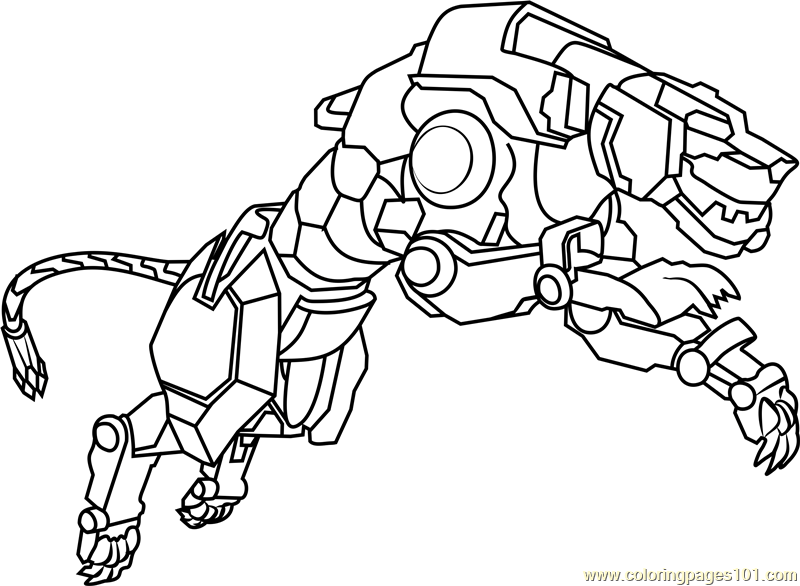 Voltron Legendary Defender In Coloring Pages: Voltron Coloring Pages Free