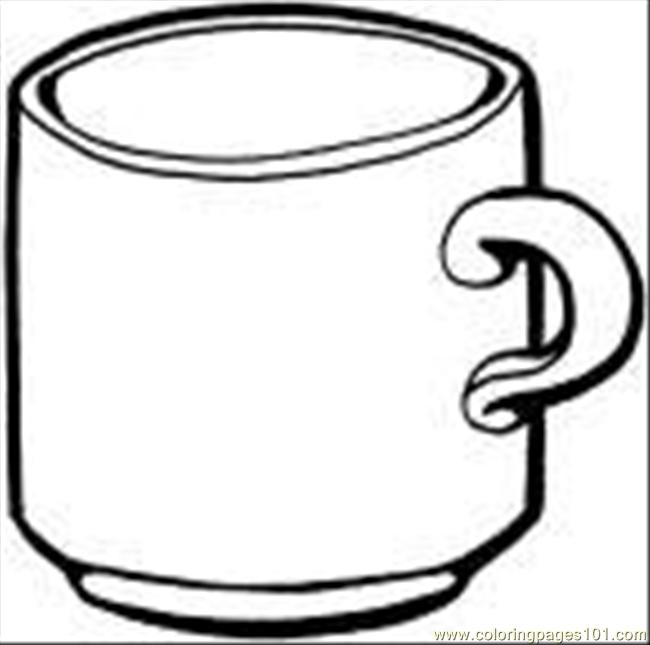 tea cup coloring page coloring page  free drinks coloring