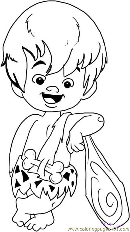 Bam Bam Rubble Step 5 Coloring Page