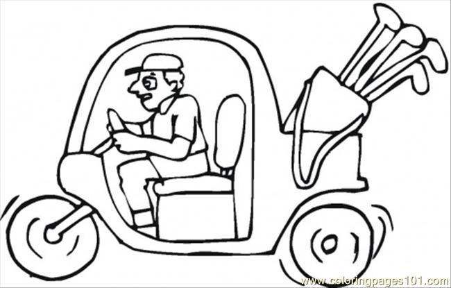 Golf Tee And Ball Coloring Page Coloring Pages