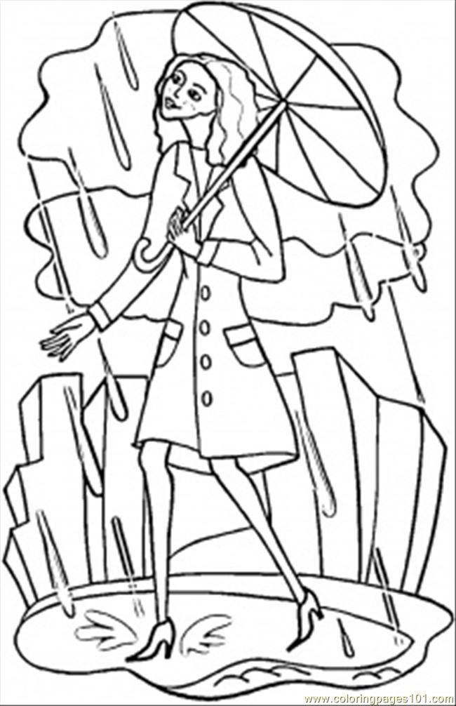 Rainy London Coloring Page Free Great Britain Coloring