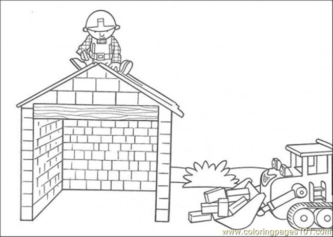 Build The House Coloring Page Coloring Page Free Houses Coloring Pages Coloringpages101 Com
