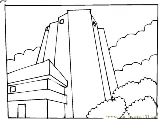 3d Tall Building Coloring Pages