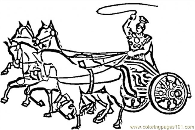 Chariot Coloring Page