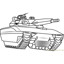 Abrams Army Tank Coloring Pages Sketch Coloring Page