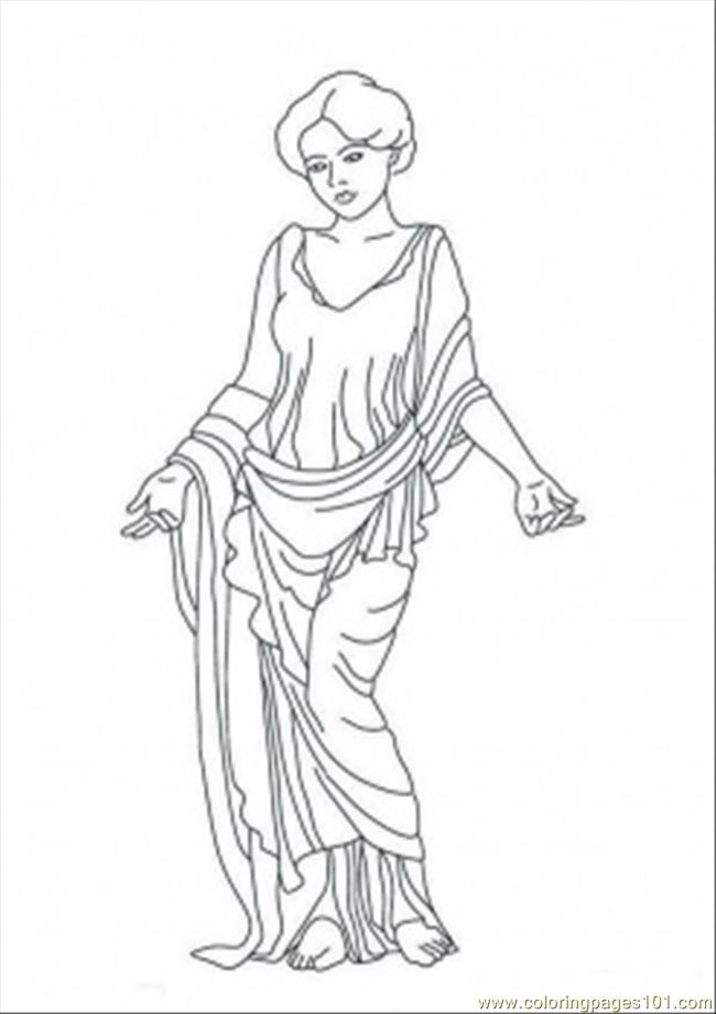 Venus Statue printable coloring page for kids and adults