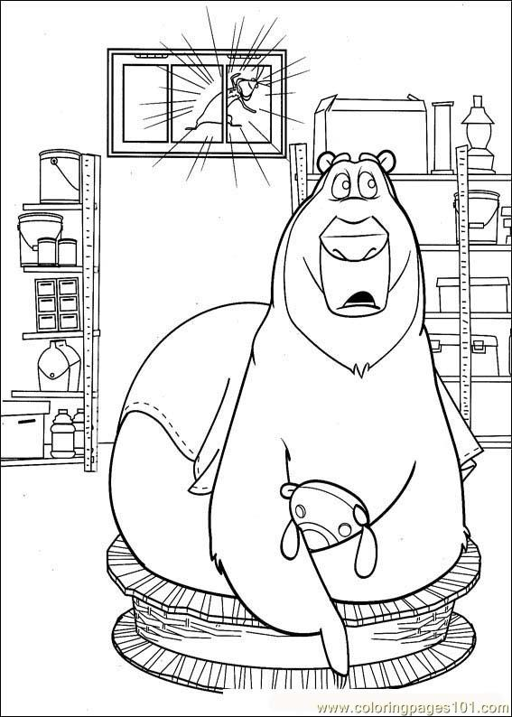 Boog And Squirrels Coloring Page