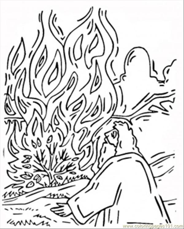 burning bush coloring page # 58