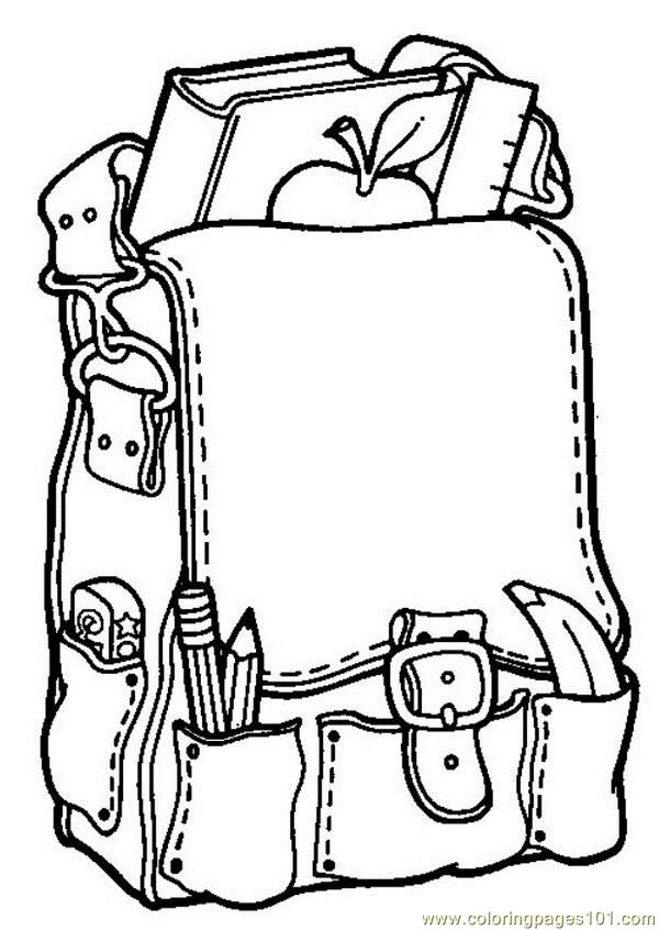 Backpack Coloring Pages