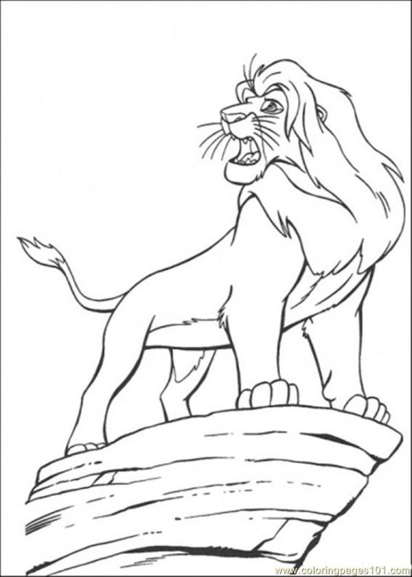 simba coloring page # 42