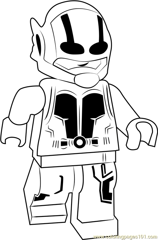 Lego Ant Man Coloring Page Free Lego Coloring Pages