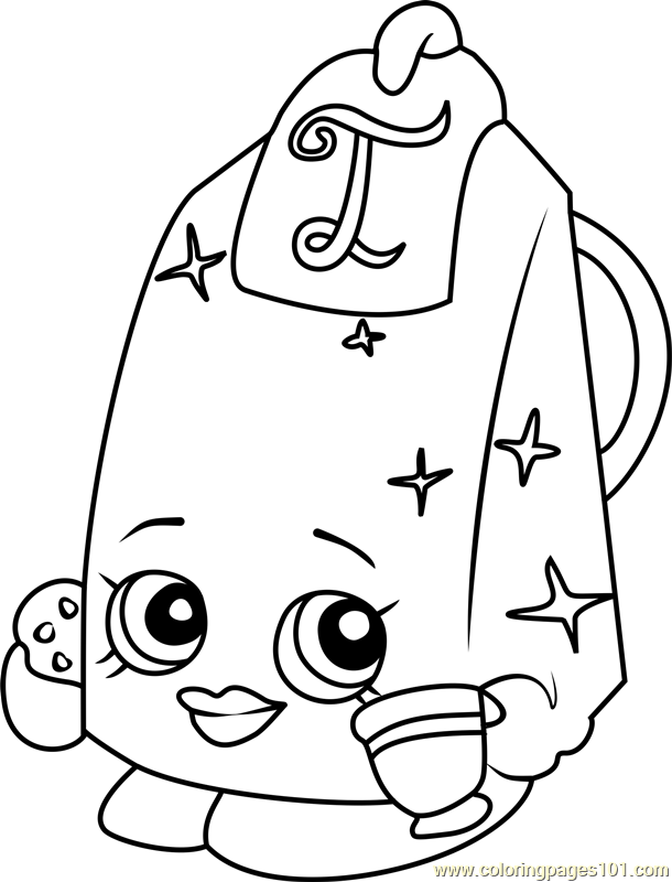 Bonnie Beret Shopkins Coloring Page