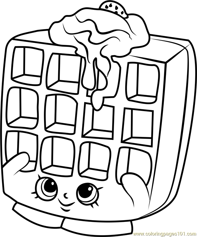 Milk bud coloring pages of s hopkins to print bing images for Waffle coloring page