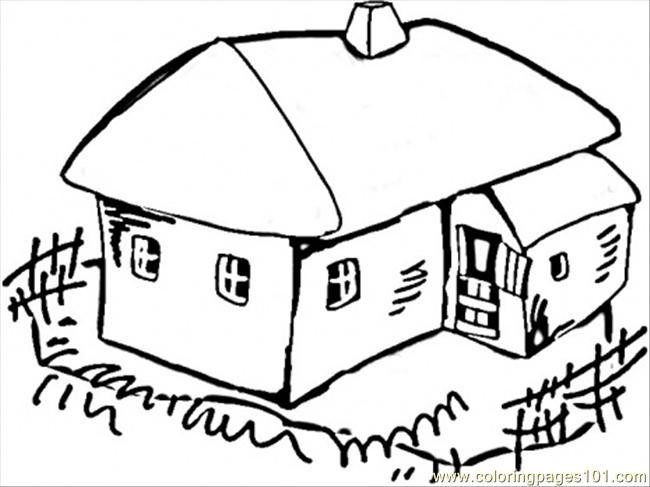 Ukrainian House Coloring Page