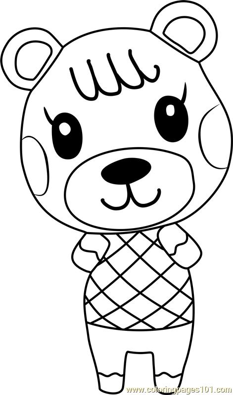 Wolfgang Animal Crossing Coloring Page