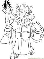 Grand Warden Coloring Page for Kids   Free Clash of the ...