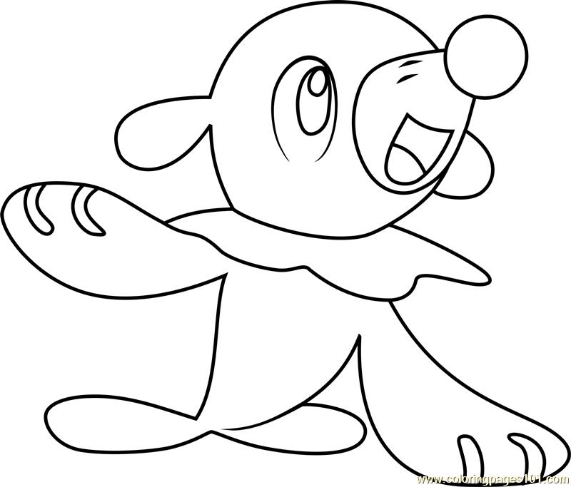 popplio pokemon sun and moon coloring page  free pokémon
