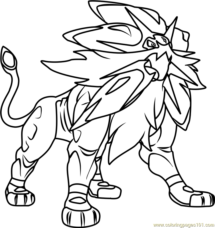 Alola Pokemon Legendary Coloring Pages