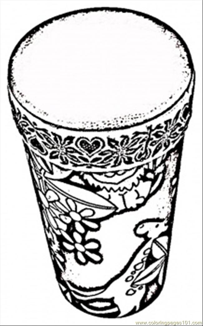Free coloring pages of african drums