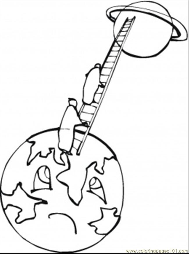 printable coloring page Climb To The Moon (Technology