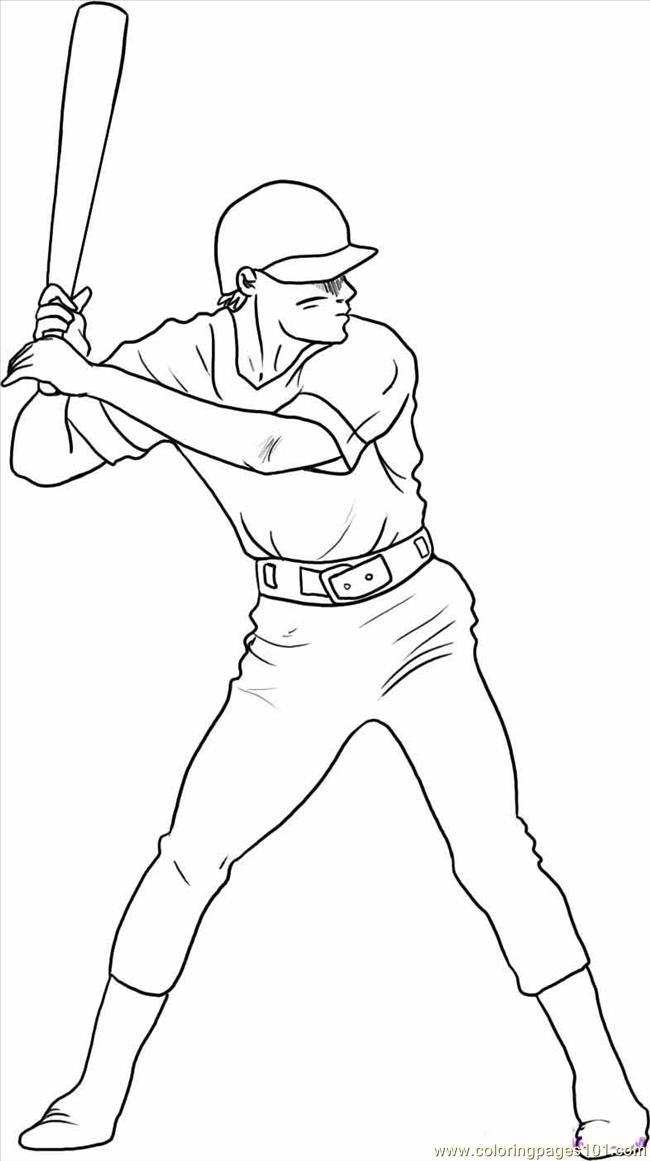 Coloring Pages Draw A Baseball Player Step 5 (Sports